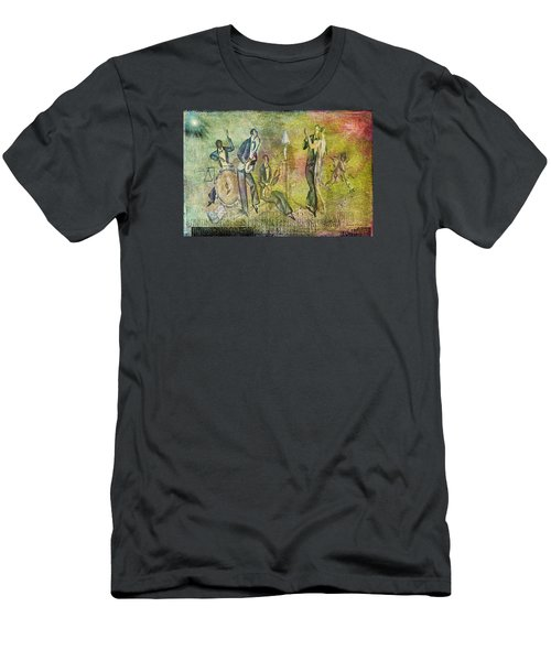 Art Deco Dancing Men's T-Shirt (Slim Fit) by Bellesouth Studio