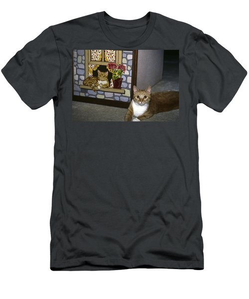 Men's T-Shirt (Slim Fit) featuring the photograph Art Imitates Life by Sally Weigand