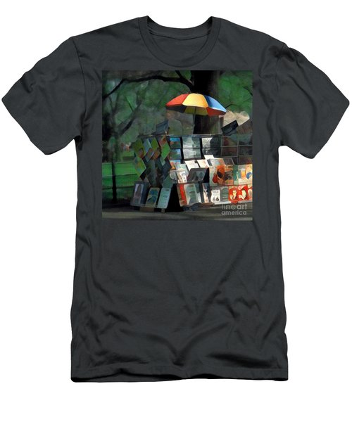 Art In The Park - Central Park New York Men's T-Shirt (Slim Fit) by Miriam Danar