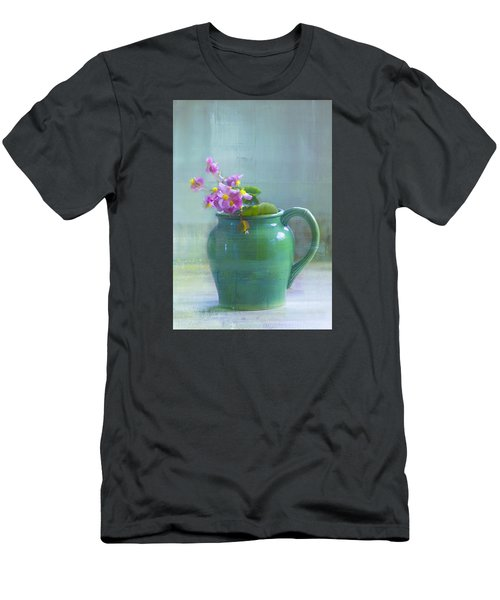 Men's T-Shirt (Slim Fit) featuring the photograph Art Of Begonia by John Rivera