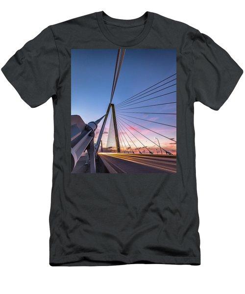 Arthur Ravenel Jr. Bridge Light Trails Men's T-Shirt (Athletic Fit)