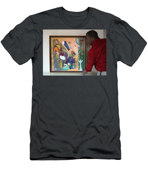 Artist Darrell Black With Dominions Creation Of A New Millennium Men's T-Shirt (Athletic Fit)