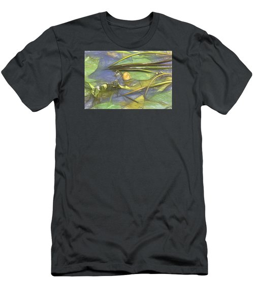 Men's T-Shirt (Slim Fit) featuring the photograph Artistic Yellow Waterlilly 2015 by Leif Sohlman