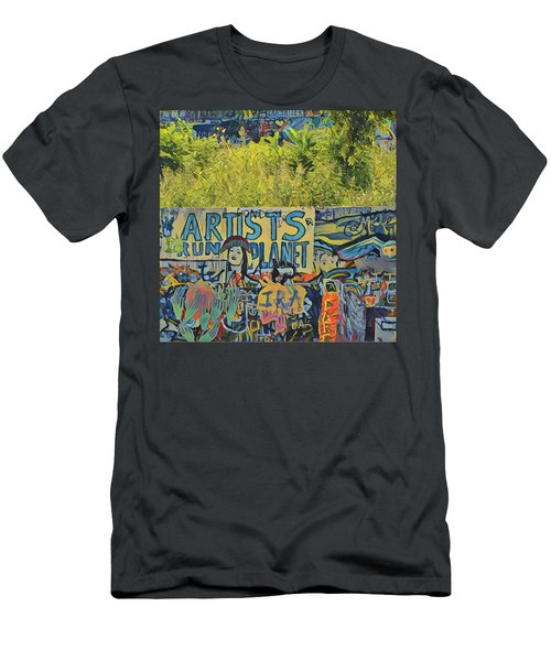 Artists Run The Planet Men's T-Shirt (Athletic Fit)
