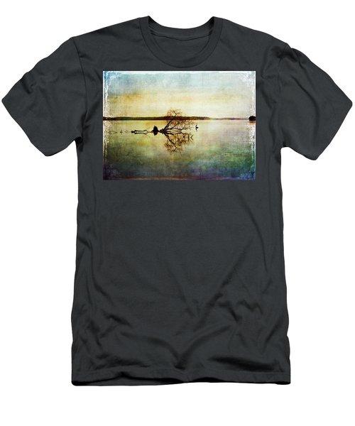 Artsy Lake Reflections Men's T-Shirt (Athletic Fit)