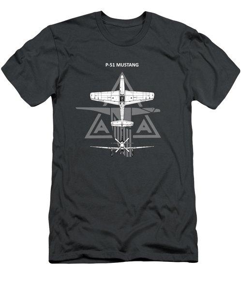P-51 Mustang Men's T-Shirt (Athletic Fit)