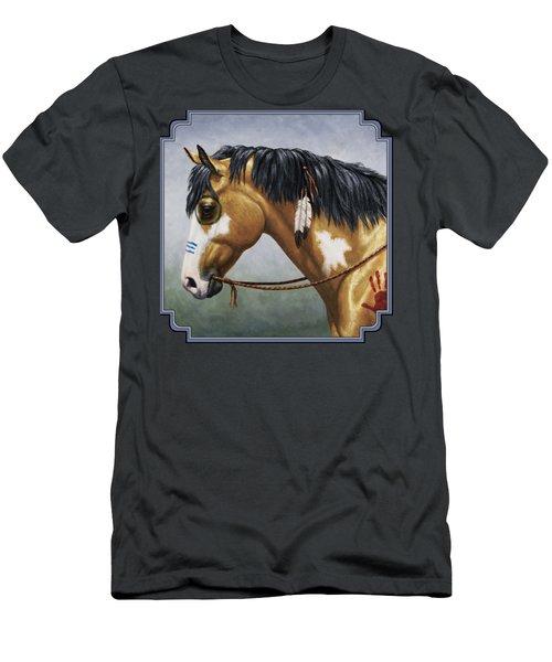 Buckskin Native American War Horse Men's T-Shirt (Athletic Fit)