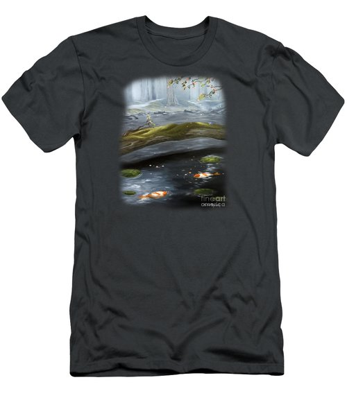 The Wishing Pond  Men's T-Shirt (Slim Fit) by Susan  Rossell