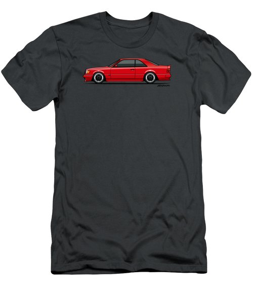Mercedes W124 300e Red Amg Hammer Widebody Coupe Men's T-Shirt (Athletic Fit)