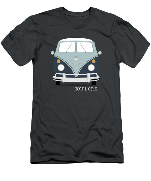 Vw Bus Blue Men's T-Shirt (Slim Fit)