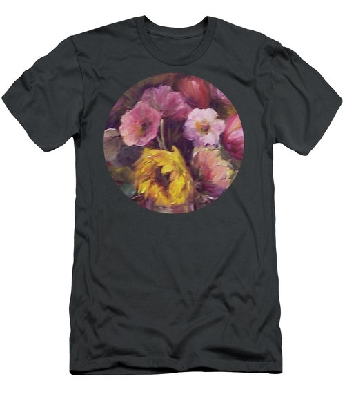 Abundance- Floral Painting Men's T-Shirt (Athletic Fit)