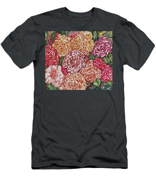 Flowers And Fruit Arrangement Men's T-Shirt (Slim Fit) by Kim Tran