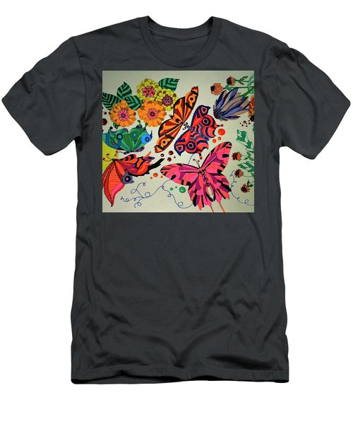 Eyes Of The Butterflies Men's T-Shirt (Slim Fit) by Alison Caltrider