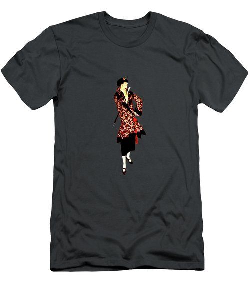 Men's T-Shirt (Slim Fit) featuring the digital art La Robe  by Asok Mukhopadhyay
