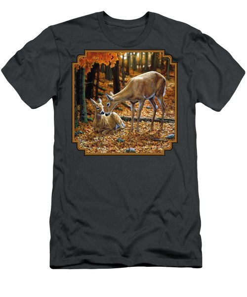 Whitetail Deer - Autumn Innocence 2 Men's T-Shirt (Athletic Fit)