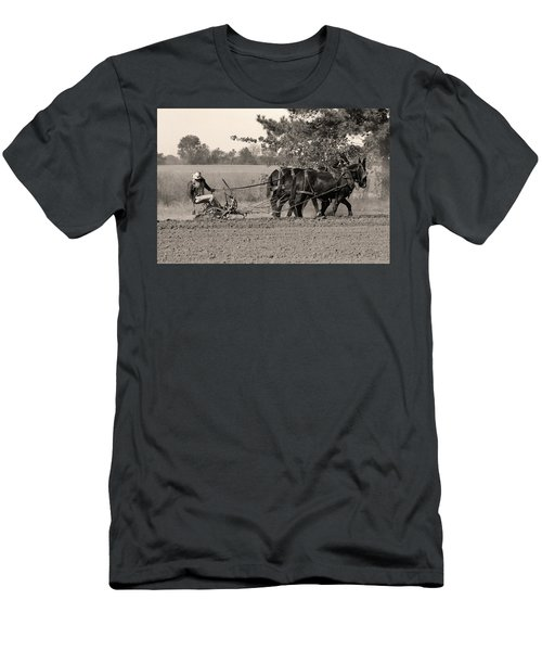 Checking The Row Men's T-Shirt (Athletic Fit)