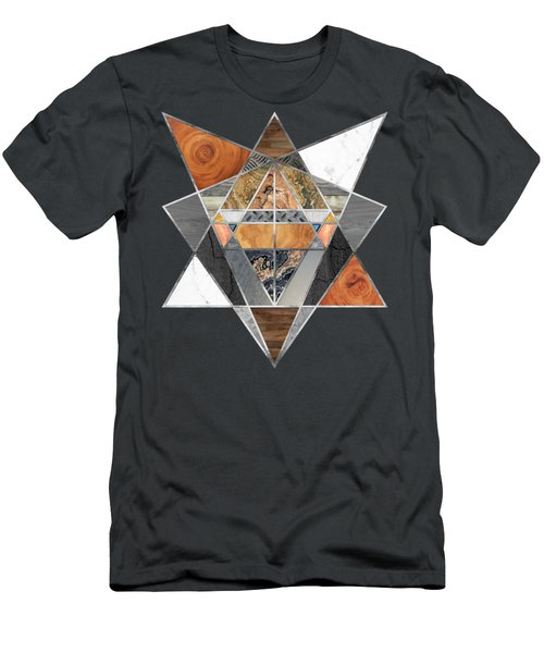 Rustic Geometry Unusual Modern Polygonal Urban Lodge Art Men's T-Shirt (Athletic Fit)