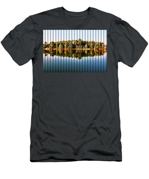 When Nature Reflects - The Slat Collection Men's T-Shirt (Slim Fit) by Bill Kesler