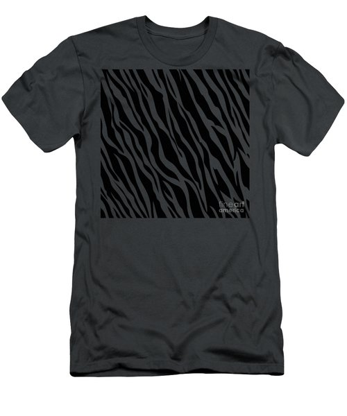 Tiger On White Men's T-Shirt (Athletic Fit)