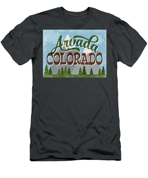Arvada Colorado Snowy Mountains Men's T-Shirt (Athletic Fit)