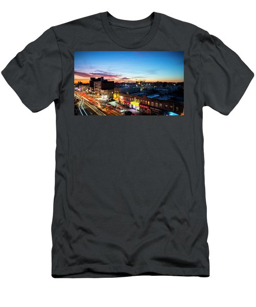 Men's T-Shirt (Athletic Fit) featuring the photograph As Night Falls by Johnny Lam