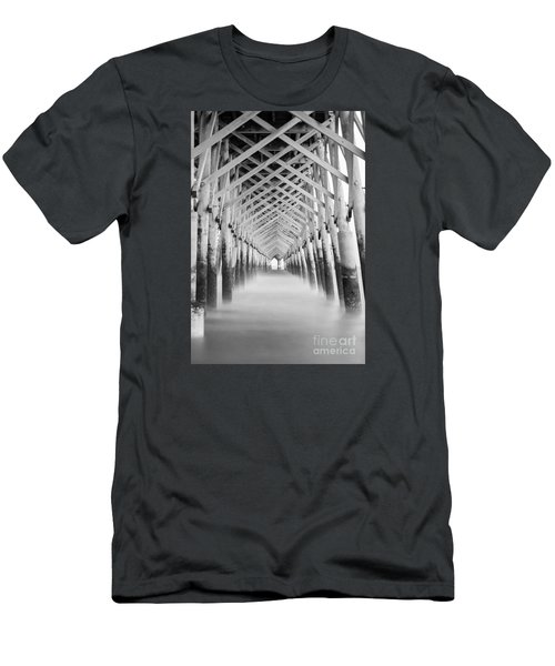 As The Water Fades Grayscale Men's T-Shirt (Athletic Fit)