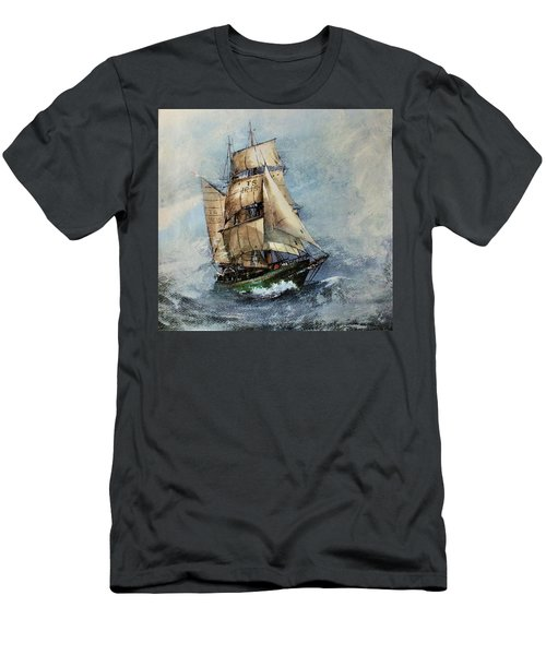 F 827 Asgard Storm Off Galway. Men's T-Shirt (Athletic Fit)