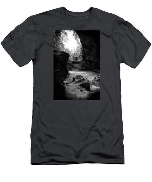 Men's T-Shirt (Slim Fit) featuring the photograph Ash Cave Hocking Hills by Alan Raasch