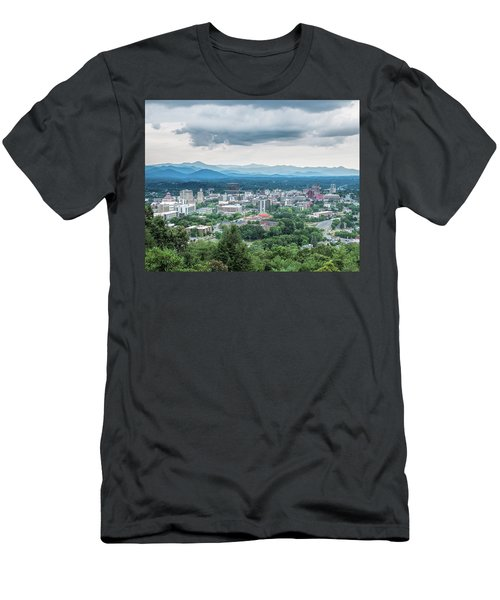 Asheville Afternoon Cropped Men's T-Shirt (Athletic Fit)