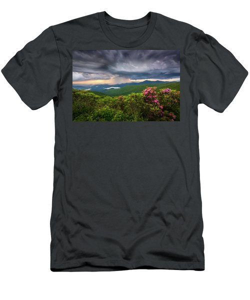 Asheville North Carolina Blue Ridge Parkway Thunderstorm Scenic Mountains Landscape Photography Men's T-Shirt (Athletic Fit)