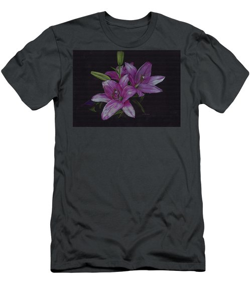 Asian Lillies Men's T-Shirt (Athletic Fit)