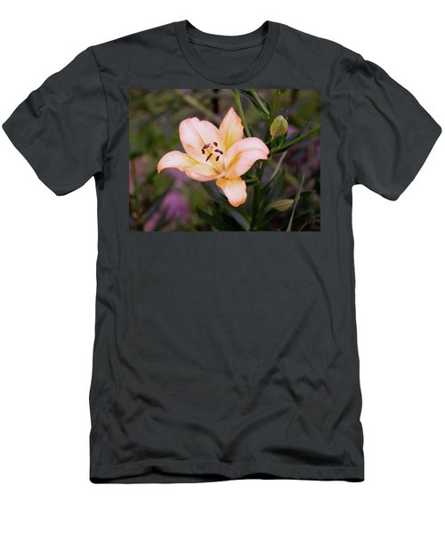 Asiatic Lilly Men's T-Shirt (Slim Fit) by B Wayne Mullins