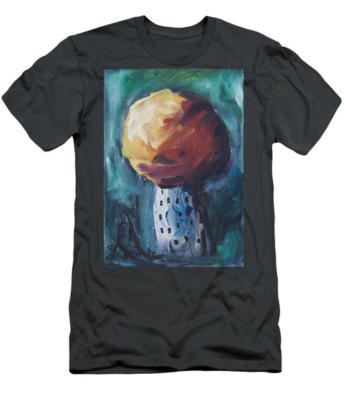 Men's T-Shirt (Athletic Fit) featuring the painting Aspen Bolitas Mushroom by Yulia Kazansky