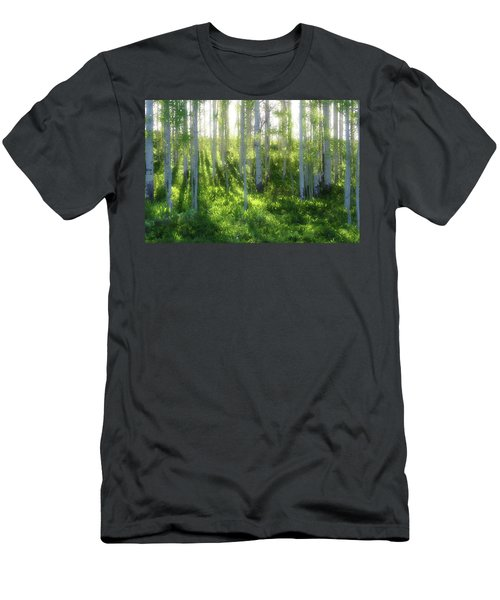 Men's T-Shirt (Slim Fit) featuring the photograph Aspen Morning 3 by Marie Leslie