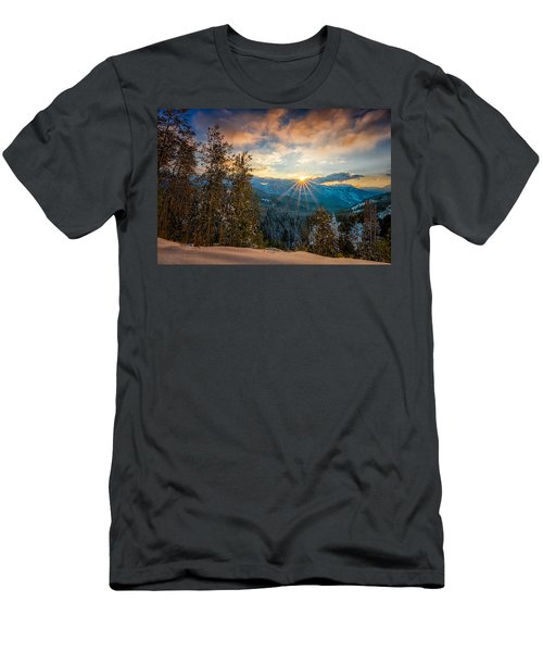 Aspens Sunset After Snowfall Men's T-Shirt (Athletic Fit)