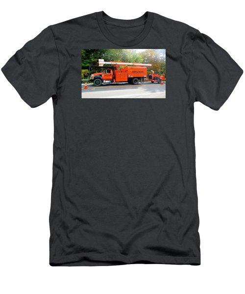 Asplundh Tree Expert Company Trucks Men's T-Shirt (Athletic Fit)
