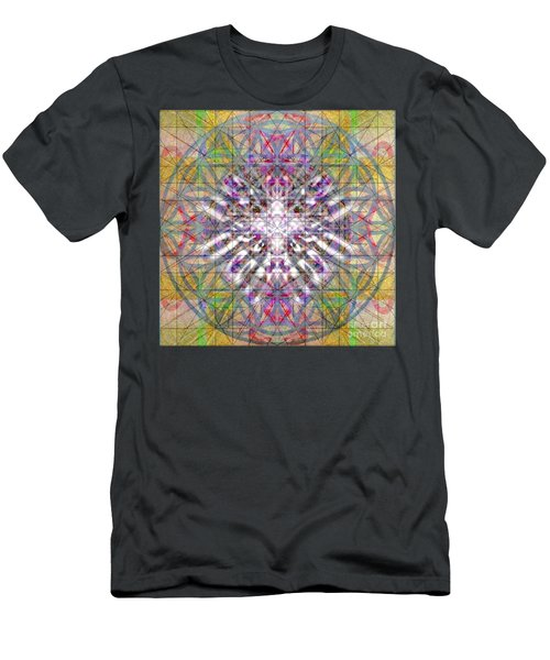 Men's T-Shirt (Slim Fit) featuring the digital art Assent From The Womb In The Flower Tree Of Life by Christopher Pringer