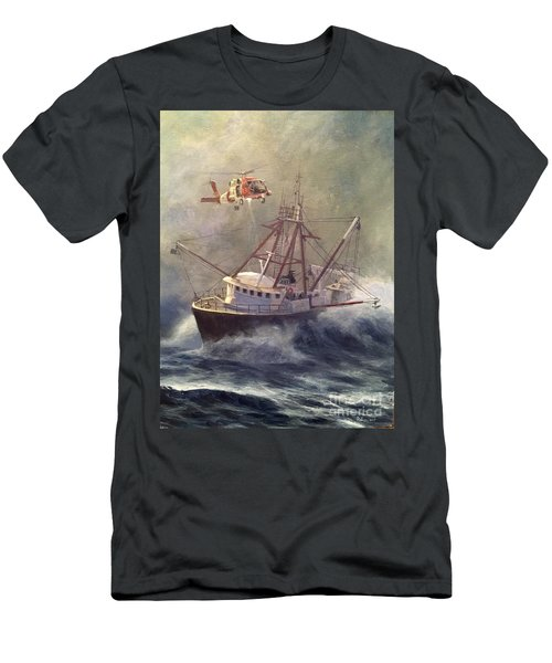 Men's T-Shirt (Slim Fit) featuring the painting Assessment by Stephen Roberson
