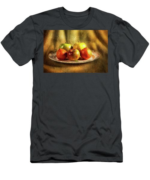 Assorted Fruits In A Plate Men's T-Shirt (Athletic Fit)