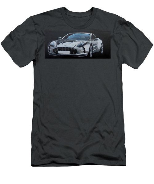Men's T-Shirt (Athletic Fit) featuring the painting Aston Martin One-77 by Richard Le Page