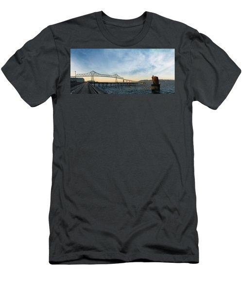 Astoria Megler Bridge By Riverwalk Panorama Men's T-Shirt (Athletic Fit)