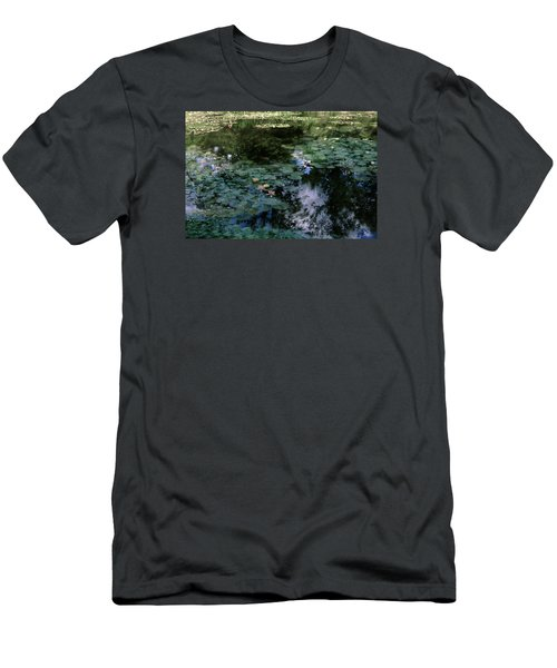 Men's T-Shirt (Slim Fit) featuring the photograph At Claude Monet's Water Garden 10 by Dubi Roman