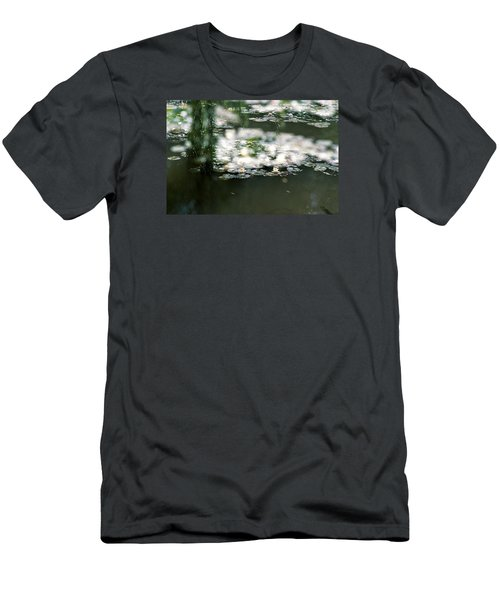 Men's T-Shirt (Slim Fit) featuring the photograph At Claude Monet's Water Garden 5 by Dubi Roman