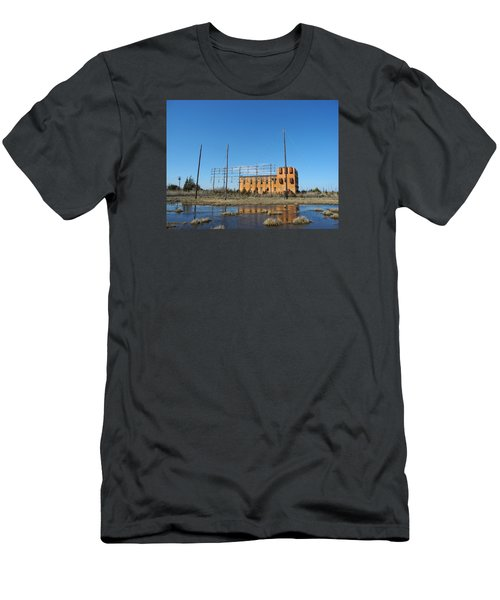 At N T Long Lines Historic Site Men's T-Shirt (Slim Fit) by Sami Martin