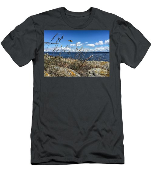 Men's T-Shirt (Slim Fit) featuring the photograph At Point Lawrence by William Wyckoff