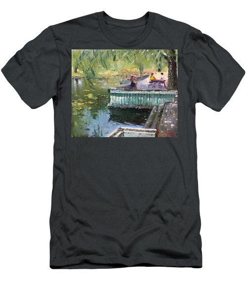 At The Park By The Water Men's T-Shirt (Athletic Fit)