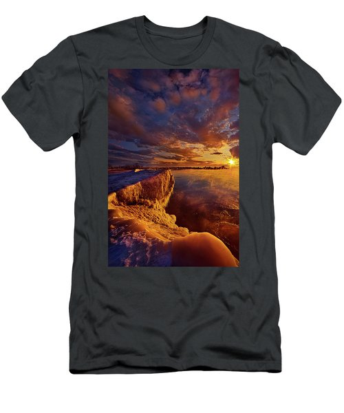 Men's T-Shirt (Slim Fit) featuring the photograph At World's End by Phil Koch
