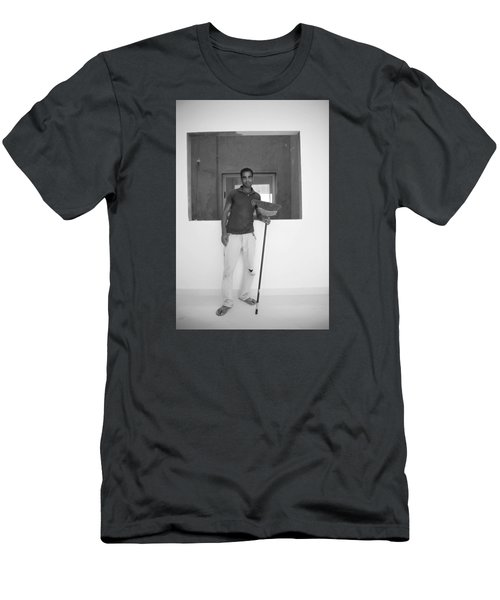 Men's T-Shirt (Slim Fit) featuring the photograph At Your Command by Jez C Self