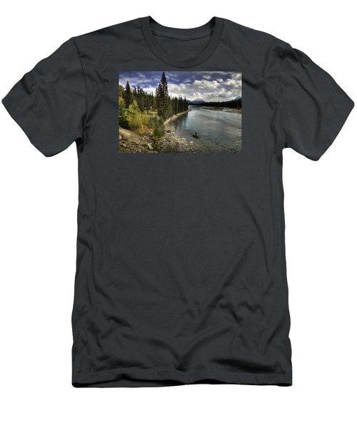 Athabasca River Men's T-Shirt (Slim Fit) by John Gilbert