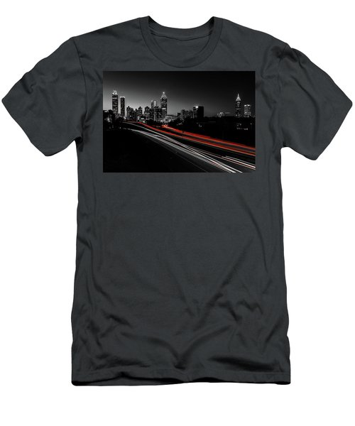 Atlanta Black And White Men's T-Shirt (Athletic Fit)